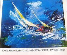 LeRoy Neiman Poster for Knoedler Publishing 16x11 Unsigned Sailing Art