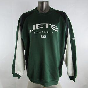New York Jets NFL Football Reebok XL Shirt Sweater Pull On Long Sleeve Sewn Mens