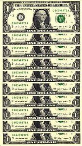 10 Consecutive 2009 $1 CA Block FRNs - Gem Crisp Uncirculated