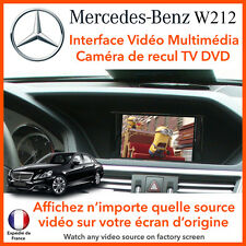 MERCEDES Class E W212 (2009 - 2016) interface vidéo multimédia TV DVD camera rec