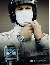 Publicité Advertising 029  2010    montre Tag Heur Steeve McQueen  Monaco Mans