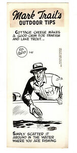 Mark Trail Original Art By Ed Dodd Outdoor Tips- Chum For Panfish and Lake Trout