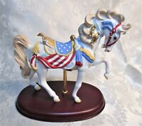 1991 Lenox American Patriot Horse Figurine * Carousel Collection * Mint!