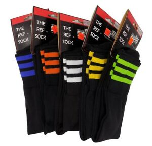 The Ref Sock Official Sports Referee Soccer Black Orange Blue Green White Yellow