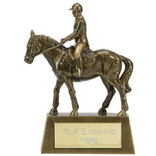 A1517A RESIN HORSE TROPHY 10.5 CM FREE ENGRAVING