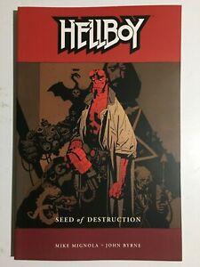 Dark Horse Comics~ Hellboy ~Seed Of Destruction~ Mignola~ Graphic Novel~2004~NM