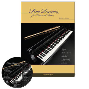 Five Dances for Flute and Piano Book CD Sheet Music Kerin Bailey
