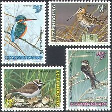 Luxembourg 1993 Welfare Fund/Kingfisher/Snipe/Plover/Birds/Nature 4v set n21181