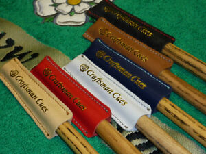 1 x Cue Tip Protector / Leather Cover for Snooker & Pool Cues by Craftsman Cues