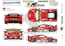 """[FFSMC Productions] Decals 1/43 Ferrari F-430 LMGT2 """"AF Corse"""" (LM 2010)"""