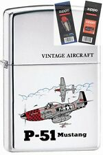 Zippo 250 p-51 mustang ww2 Lighter with *FLINT & WICK GIFT SET*