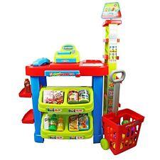 NEW! Childrens Kids Supermarket Shop Grocery Pretend Toy Kitchen Playset
