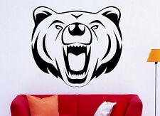 Grizzly Bear Wall Decal Vinyl Sticker Wild Animals Interior Art Decor (1bgr1)