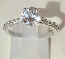 925 Sterling Silver Solitaire Created Lab Diamond Ring  AUSTRALIAN SELLER 2.05ct