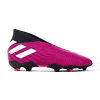 adidas Nemeziz 19.3 Laceless FG Firm Ground Kids Football Boot Pink/Black