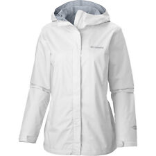 Columbia Arcadia II Rain Jacket Women's 1X (16W-18W) Hooded White/White $100 NEW
