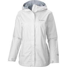 Columbia Arcadia II Rain Jacket Women's 1X (16W-18W) Hooded White/White $100 NEW