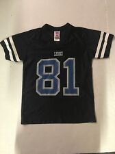 Calvin Johnson Detroit Lions NFL Players Nike Black Jersey Youth Size Small (8)