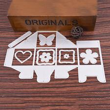 9Pc Metal Candy Box Cutting Dies Stencils Template DIY Scrapbooking Album Craft