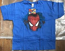 Spiderman Head XXL Blue Men's T Shirt New