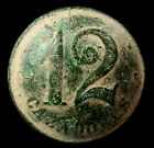 Button Company Cazadores line 12, Napoleonic wars, 20 mm.