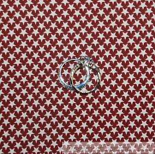 BonEful Fabric FQ Cotton Quilt Maroon Red Cream Off White USA Star Stripe Boy US