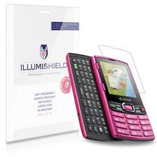 iLLumiShield Phone Screen Protector w Anti-Bubble/Print 3x for Kyocera Contact