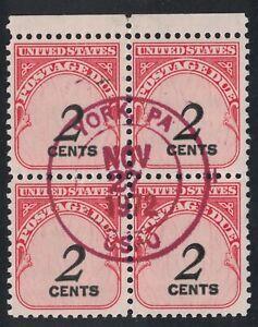Scott J90- Block of 4 w/ York PA Cancel (1972)- 2c Postage Due, Shiny Gum- OG NH