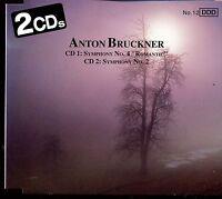 """Anton Bruckner / Symphony No.4 """"Romantic"""" - Symphony No.2 - 2CD - MINT"""