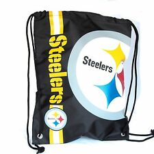 Pittsburgh Steelers Drawstring Bag NFL Football Officially Licensed Gym Tote