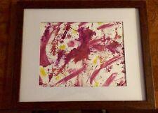 "Watercolor by the artist ""DAIS entitled ""RORSCHACH INTERPRETATION"""