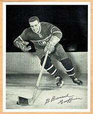 1945-54 Quaker Oats Canadiens' B.Bernard 'Boom Boom' Geoffrion 8x10