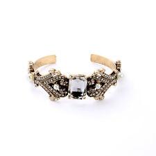 Bracelet Manchette Doré Art Deco Perle Cristal Vintage Class Mariage CT 6