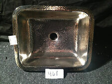Hand Hammered Rectangle Nickel Bar Prep  Butler Pantry Wine Room Sink #468