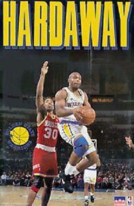 1992 Tim Hardaway Golden State Warriors Original Starline Poster OOP