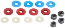 Tamiya (53448) 4mm Radmuttern+Distanzscheiben (Alu,silber,rot,blau,schwarz)