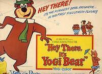 Title Card 1964 HEY THERE YOGI BEAR animated cartoon