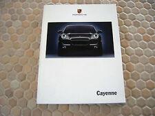 PORSCHE 1st OFFICIAL CAYENNE S & CAYENNE TURBO PRESTIGE SALES BROCHURE 2003 USA