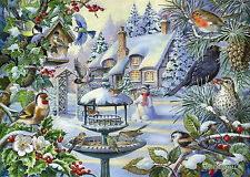 The House Of Puzzles - 500 BIG PIECE JIGSAW PUZZLE - Winter Birds Big Pieces