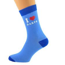 Dos Tonos Azul Calcetines Unisex I Love Dardos UK Size 5-12 X6N628