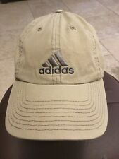 ADIDAS Baseball Hat Beige with Gray Embroidered Logo Strapback Hat