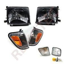 Black Headlights Front Bumper Lights Amp Corner Lights For 98 00 Toyota Tacoma 4wd Fits 1998 Tacoma