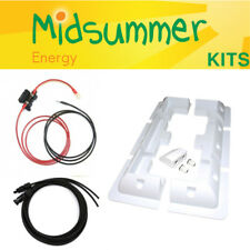 Solar PV Plastic Mounting + Cables - Battery Fused Harness - 20W 50W 100W 200W