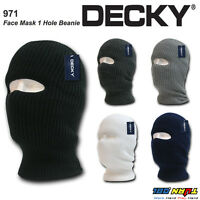 DECKY Therma Face Mask 1 Hole Knit Beanie Cap Balaclava Military Skiing Tactical