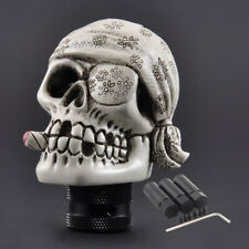 Manual Gear Stick Shift Knob Shifter Lever Scarf Pirate Skull Head Universal