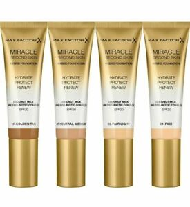 Max Factor Miracle Second Skin Foundation (Various Shades)