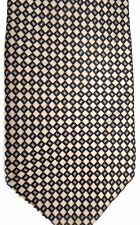 "Bergamo Men's Silk Tie 65"" X 4"" Black & Beige Geometric"