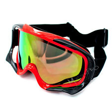 Motocross Motorcycle Racing Goggle ATV Quad Dirt bike Skiing MX Red  Tinted