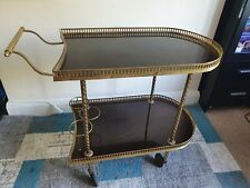 1940s VINTAGE SERVING BUFFET/DRINKS CART TROLLEY WITH BOTTLE HOLDERS V.G.C