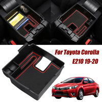 Armrest Storage Box for Toyota Corolla E210 2019-20 Central Console Tray Mat